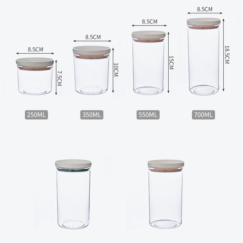 Кухня герметичный зерна фасоли контейнер для специй прозрачный