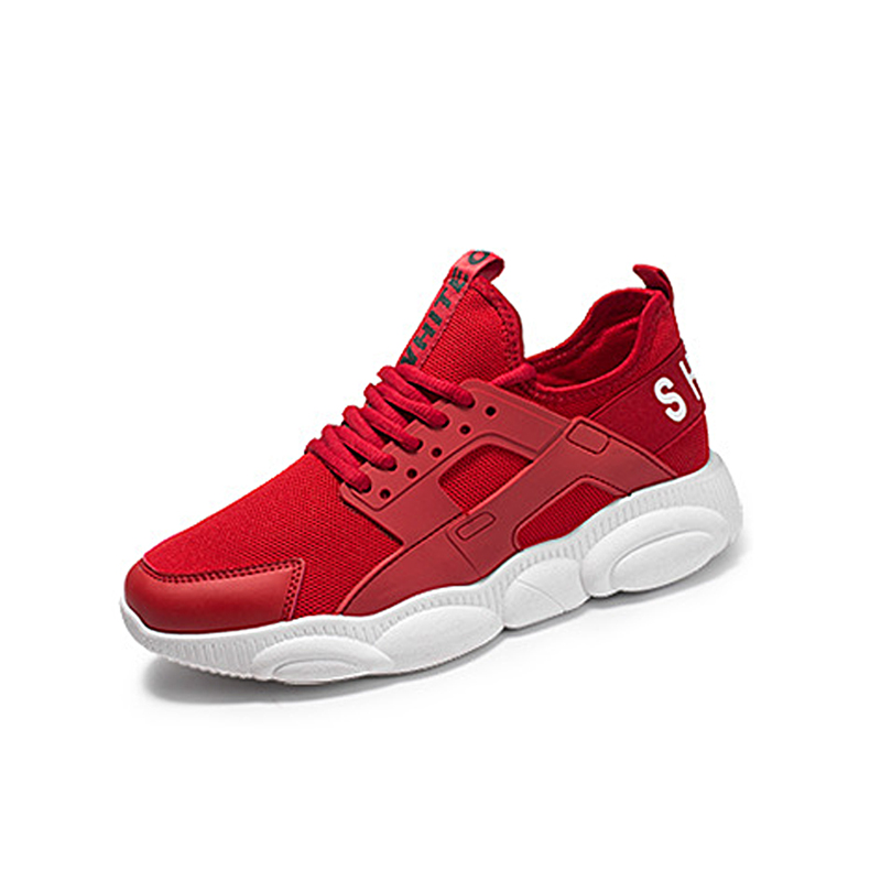 Men Summer Sports Shoes Tennis White Fitness Sneakers High Quality Trainers Male Red Sports Shoes Outdoor Ruway Gym Teenagers in Men 39 s Casual Shoes from Shoes