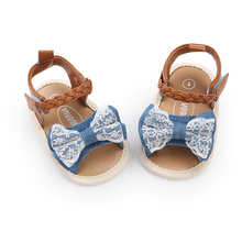 Baby Girl Summer Sandals Kawai Bowknot Woven Decoration First Walkers Soft Bottom Anti Slip Shoes Girl Toddler Princess Shoes