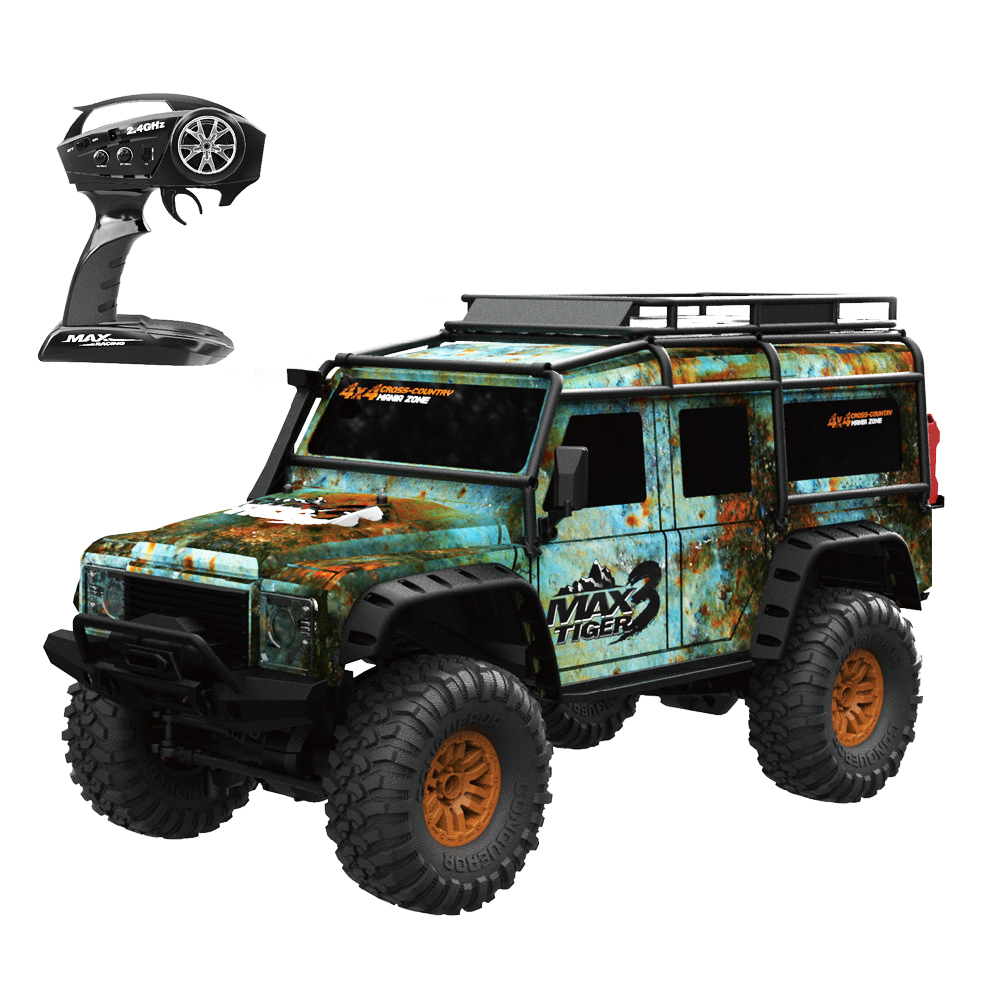 1/10 2.4G 4WD Rc Car 2 Battery HB Toys Proportional Control Retro Vehicle w/ LED Light RTR Model Remote Control Kid Toys