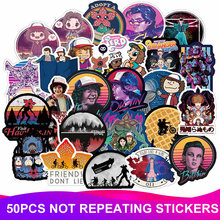 50pcs Pack Waterproof Stranger Things Stickers Skateboard Suitcase Snowboard Guitar Motorcycle Phone Laptop Sticker Classic Toy