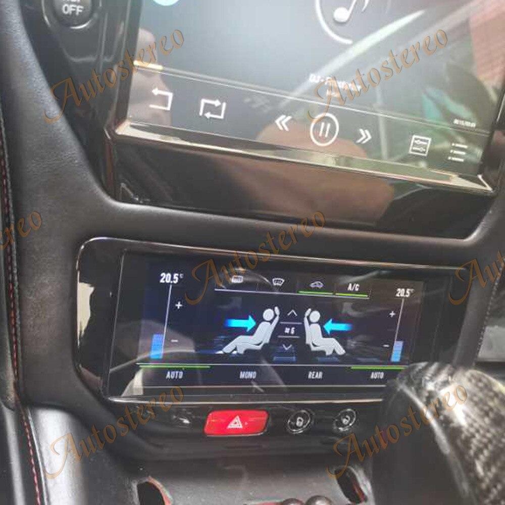Tablero A/C para Maserati GT/GC GranTurismo negro o fibra de carbono 2007 - 2017 reproductor Multimedia coche estéreo GPS unidad principal de navegación