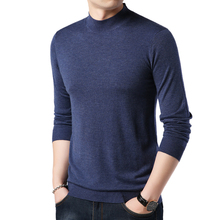 Men Sweater Casual Male Solid Knit Shirts Slim Sweater Leisu
