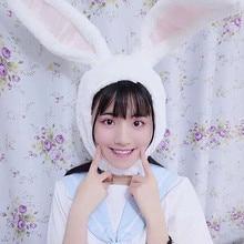 Earflap-Cap Ears-Hat Rabbit-Hood Bunny Plush Headgear Cosplay Photo-Supplies Party Girls