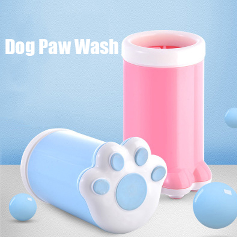 <font><b>Dog</b></font> <font><b>Paw</b></font> <font><b>Cleaner</b></font> Cup Soft Silicone Combs Portable Outdoor Pet Foot Washer Cup <font><b>Paw</b></font> Clean Brush Quickly Wash Foot Cleaning Bucket image