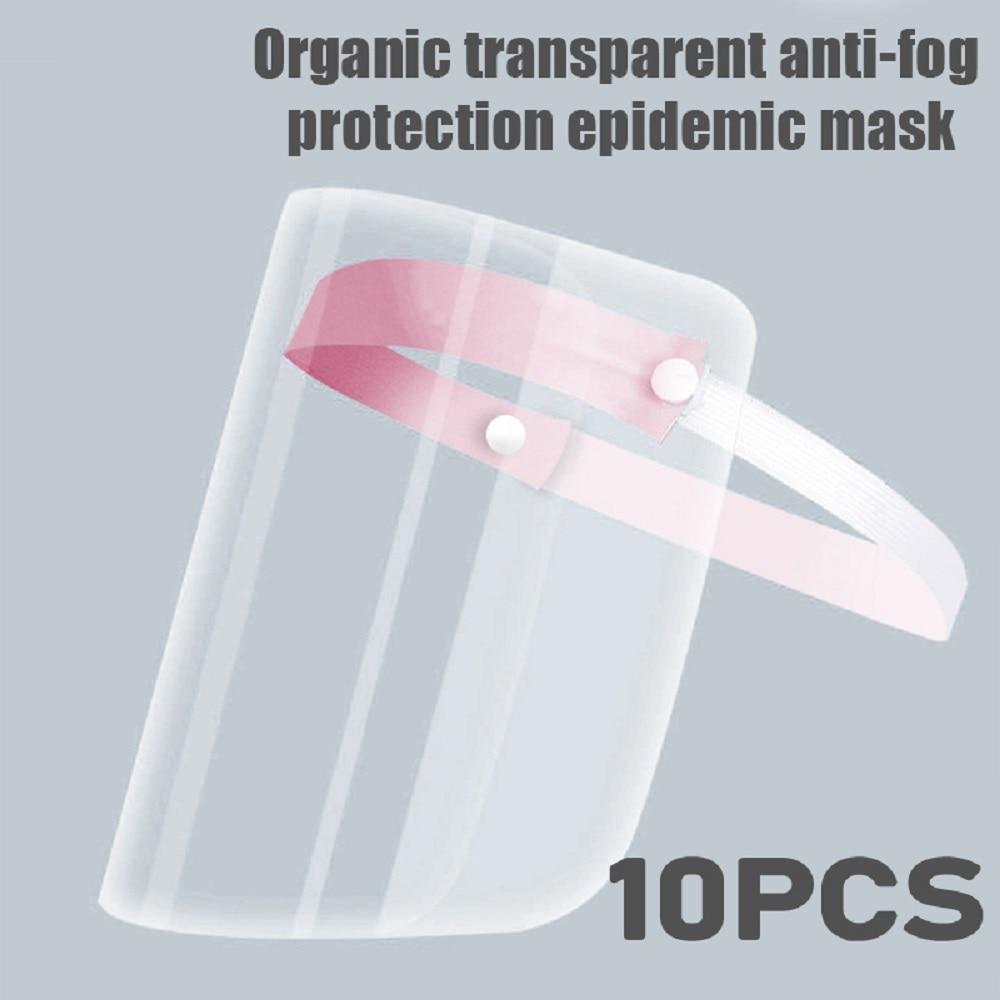 Full Face Transparent Double-sided Anti-fog Anti-impact Isolation Mask Anti-spatter Anti-epidemic Supplies Color Random