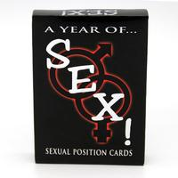 54Pcs/ set Sexual positions playing paper cards A Year Of Sex for Adult sexy game cards sets for couple game sex postion