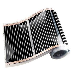 Image 2 - Film di Riscaldamento elettrico 20m2 Lunghezza 40M di Larghezza 0.5M Lontano Infrarosso Riscaldamento a Pavimento Films Con Accessori AC220V, 220W/m2 Pad di Riscaldamento
