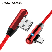 PUJIMAX 90 Degree USB Type C  Fast Charging usb c cable Type-c data Cord Charger usb-c For Samsung S8 S9 Note 9 8 Xiaomi mi8 mi6 voxlink usb type c 90 degree fast charging usb c cable type c data cord charger usb c for samsung s8 s9 note 9 8 xiaomi mi8 mi6