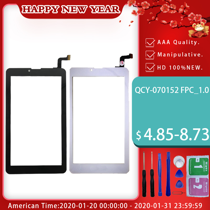 7'' Inch Touch Screen For QCY-070152 FPC_1.0 Tablet Capacitive Touch Panel Digitizer Glass Sensor Repair Replacement Spare Parts