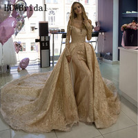 Luxury Champagne Dubai Evening Dress Long Sleeves Boat Neck Glitter Tulle Lace Mermaid Prom Gowns Custom Made Robe De Soiree