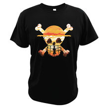 One Piece Japanese Manga Series T-Shirt Straw Hat Monkey D.Luffy Great Design Summer High Quality EU Size Soft Tops(China)