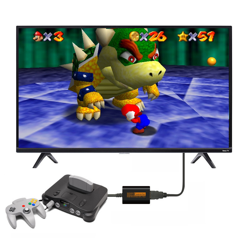 cheapest 720P HDMI Switch Converter For N64 SNES NGC SFC To HDTV Video Scart Cable Convenient Splitter Game Console Conversion