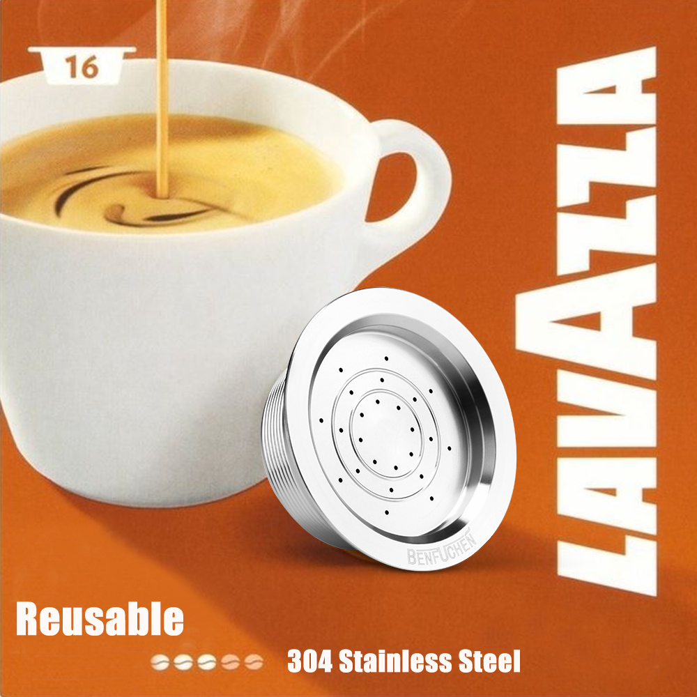 Icafilas For Lavazza A Modo Mio Coffee Capsule Reusable Refillable Stainless Steel Filters Pod Cup For Lavazza A Modo Mio JOLIE