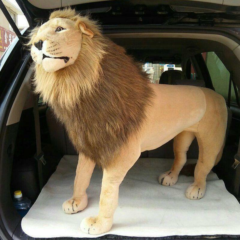40 riesen Lebensechte Lion Plüsch Spielzeug Puppe Plüsch Fahrt Auf Gefüllte Weihnachts Geschenke NEUE Stich Plüsch Spielzeug