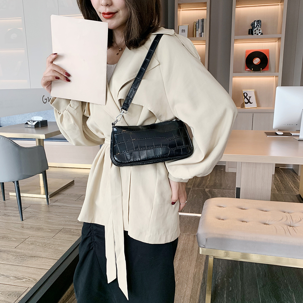 Small Shoulder Bags For Women Crocodile Leather Square Bag Brand Mini Designer Travel Totes Office Lady Shoulder Bag