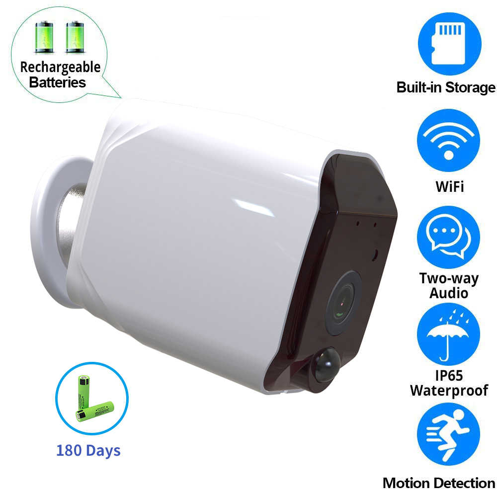 1080P WIFI Security IP Battery Camera Outdoor Surveillance CCTV Network Low Power Consumption Night Vision&2-Way Audio Mini Cam