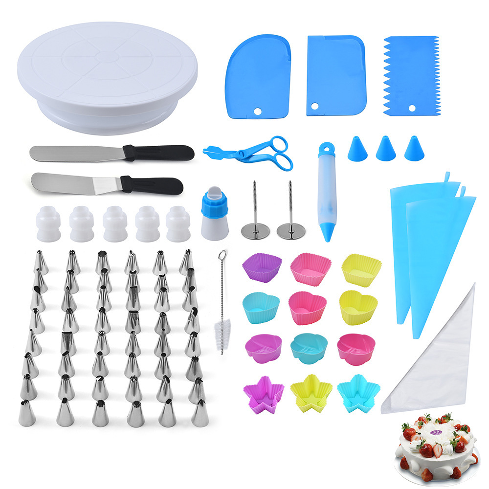 80-piece set Cake mold tool Decorating spouts for making butter cakes multi-purpose kitchen and household baking utensils
