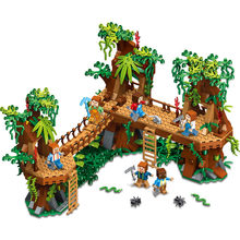 My world vi Sky Garden Tree House Legoed minecraftmc Building Blocks Mountain Cave Assemble Bricks Children Toys Christmas Gift(China)