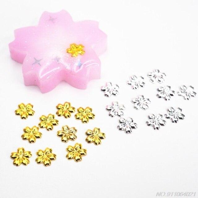 100 pièces cerise fleur cadre UV résine charme remplissage lunette réglage Cabochon charges J25 21 livraison directe