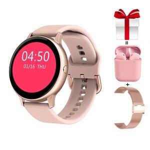 Смарт-часы для женщин DT88 Pro + ремень + для разъема для наушников, Женский Смарт-часы кровяное Prssures кислорода браслет для занятий спортом, для ...