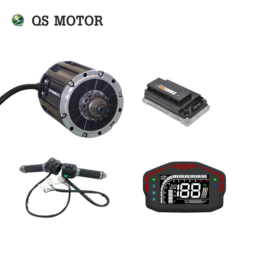 QS, 2000W, 120, 72V, 70kph, kits de motor de tracción media con controlador EM100SP, bicicleta de carreras