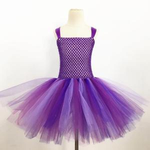 Фиолетовое сказочное платье-пачка с крыльями для девочек, праздничные платья на день рождения для маленьких девочек, детский карнавальный ...