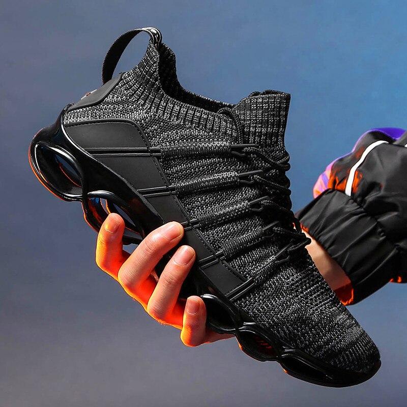 운동화 야외 새로운 도착 브랜드 남성 캐주얼 신발 패션 여름 가을 통풍 성인 Zapatillas 남성 캐주얼 신발 동향