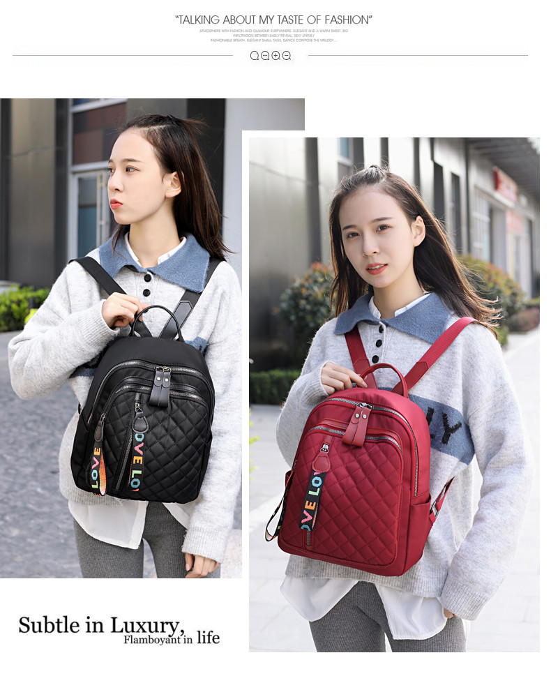 H905d899db74742a2bd1cbba30d0dc494Z - Vento Marea Travel Women Backpack  New Oxford Female Shoulder Bag Casual Black Rucksack Plaid School Bag For Teenage Girls