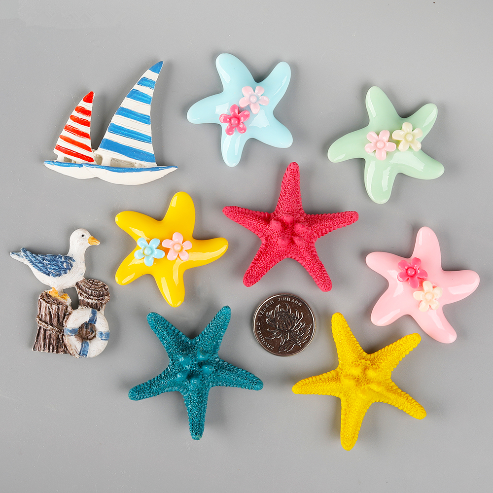 1Pcs Resin Starfish DIY Display Craft Simulation Crab Mediterranean Sea Home Decorations Kids Handmade Toys Accessories
