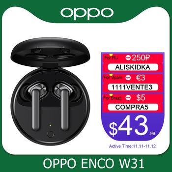 OPPO Enco W31 TWS słuchawkowe Bluetooth 5 0 Low Latency Prawdziwe Słuchawki bezprzewodowe 25mAh IPX4 Na Find X2 X2 Pro ACE 2 tanie i dobre opinie Ucho Dynamiczny CN (pochodzenie) wireless 95dB Dla Telefonu komórkowego Wspólna Słuchawkowe Sport Typ linii Instrukcja obsługi