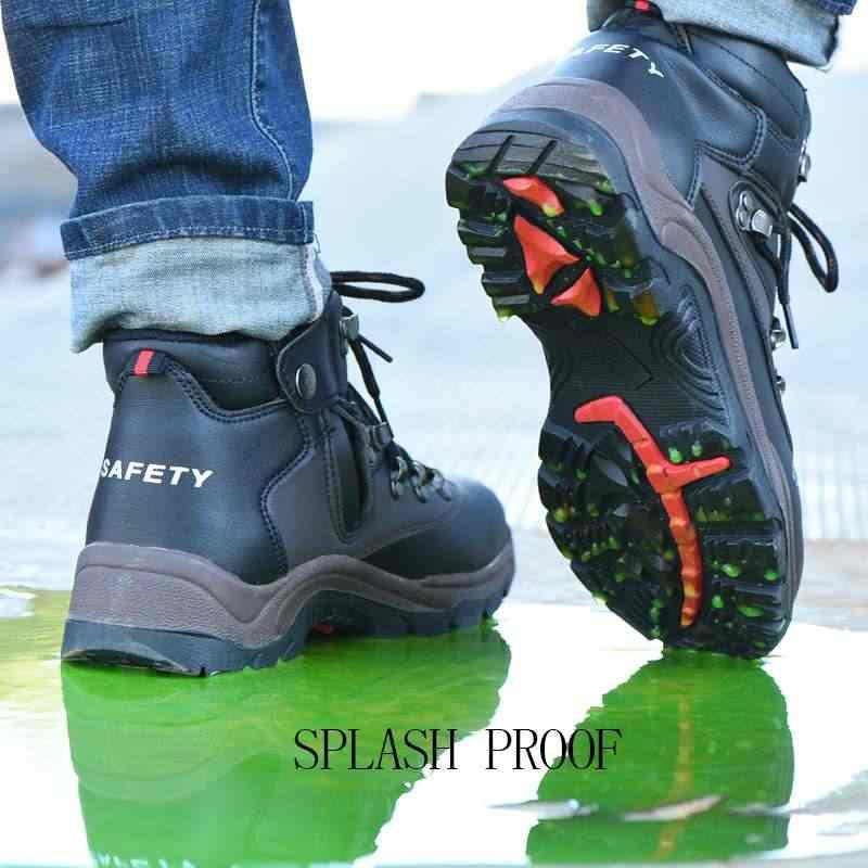 AtreGo Men Safety Shoes Steel Toe Cap