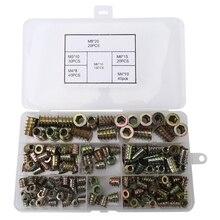 Threaded Inserts Nuts, Wood Insert Assortment Tool Kit, M4/M5/M6/M8 Furniture Screw Inserts Bolt Fastener(165 PCS)