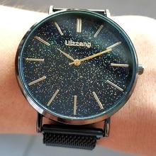 купить Relogio Feminino Luxury Men Black Watches Fashion Starry Sky Watch Top Brand Magnetic Mesh Quartz Wrist Watch For Mens Best Gift по цене 324.35 рублей