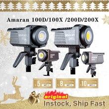 Aputure Amaran 100D 200D 100x200x5600K LED Video Licht CRI95 + TLCI96 + Bluetooth App control 8 Beleuchtung Effekte DC/AC Netzteil