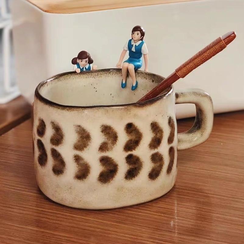 Filizanki Do Kawy Zestaw Ceramic Coffee Mug Cup Retro Exquisite Japanese Water Milk Tea Breakfast Vajilla Japonesa Tasse Cafe