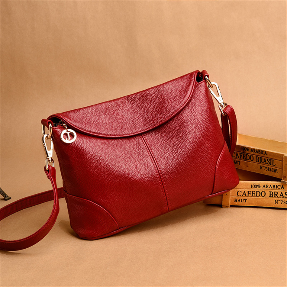 Image 4 - Leather Luxury Women Handbags Designer Messenger Bag Small Ladies Shoulder Hand Crossbody Bags For Women 2020 bolsas de mujerShoulder Bags   -