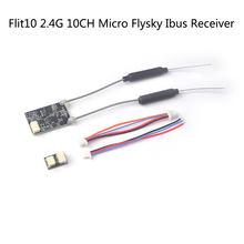 Flit10 2.4G 10CH Micro Telemetry Flysky Compatible Ibus RC Receiver for FS-I6X FS-i6S Turnigy Evolution FPV Racing Drone