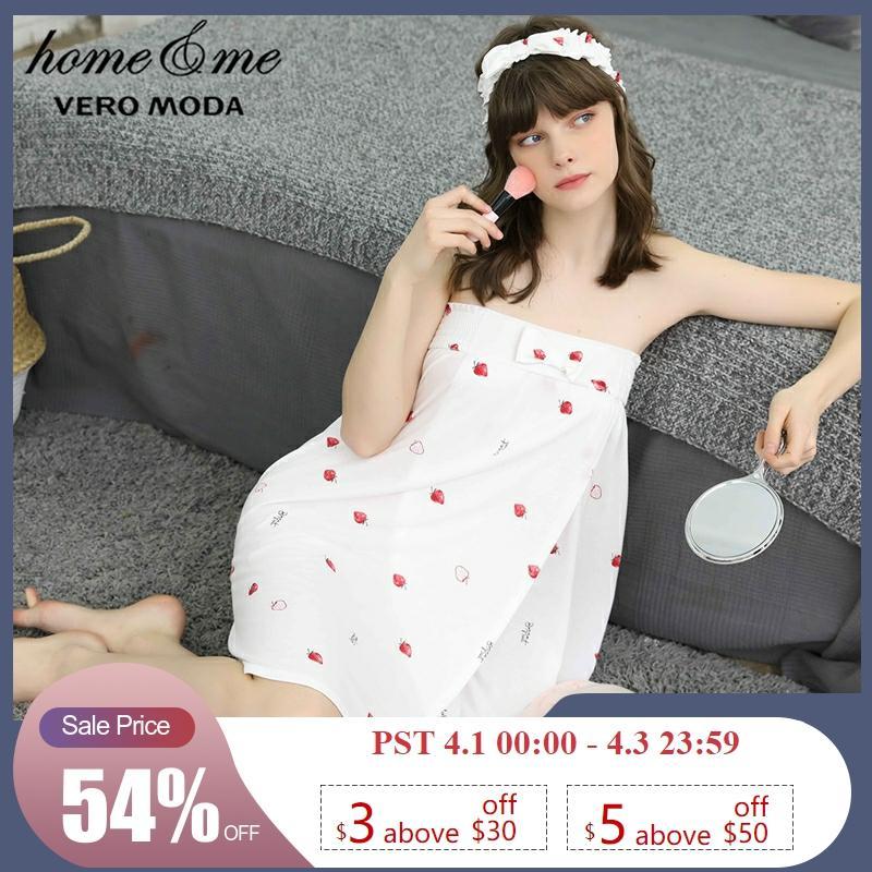 Vero Moda New Arrivals Elasticized Print Night Dress Homewear Dress  | 319261506