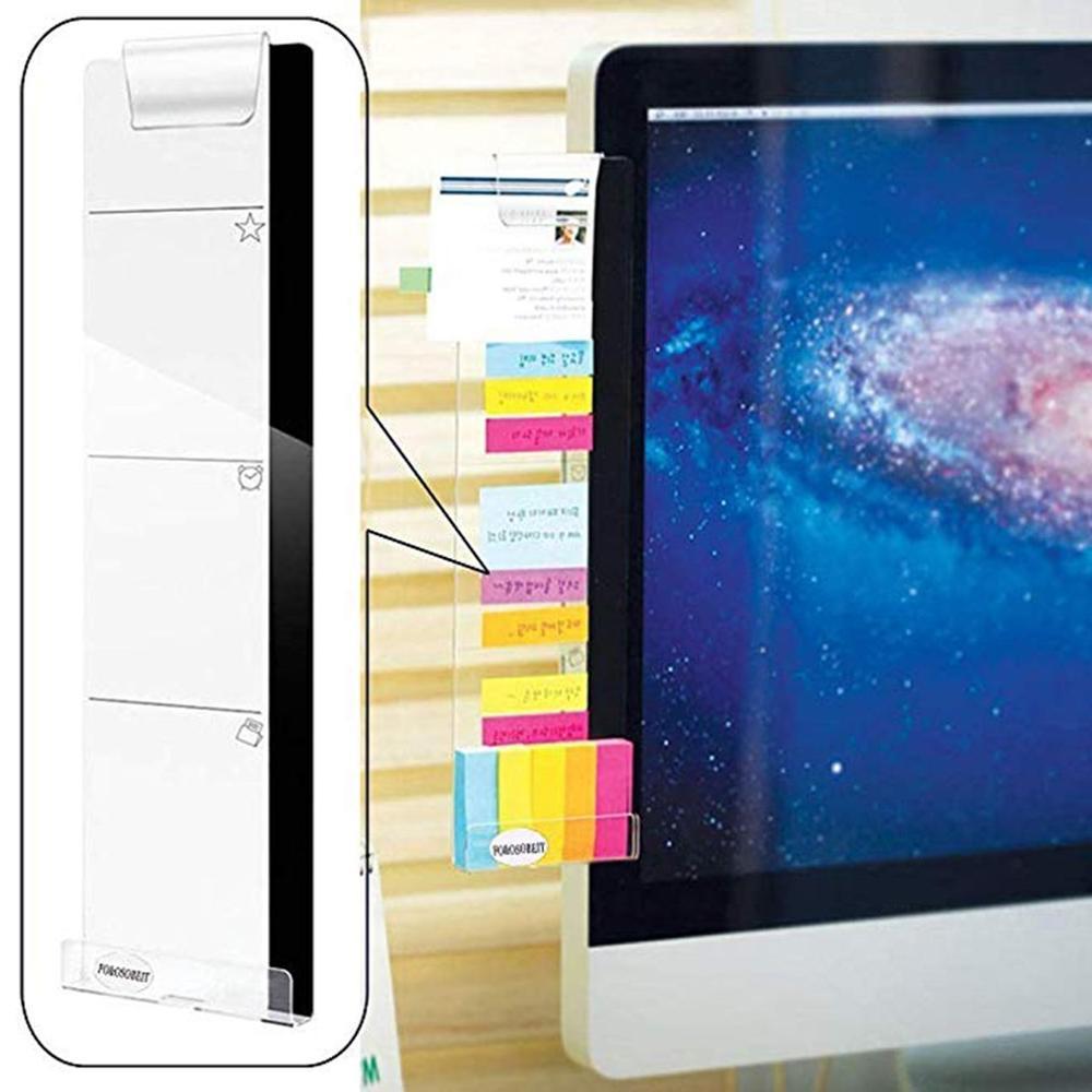 Наклейка с правой/левой наклейкой для монитора компьютера, акриловая наклейка на экран, записывающий зажим, держатель для телефона с