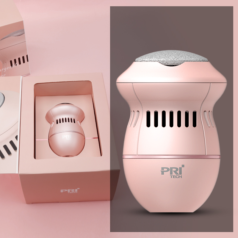 Pritech Hot Foot Care Tool USB Charging Callus Remover Powerful Pedicure Callus Remover Feet Cleaner With Three Diamond Heads