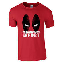 Deadpool Maximum Effort T-Shirt - Comic Eyes Superhero Funny Movie Mens Gift Top Fashion Men And Woman T Shirt Free Shipping(China)