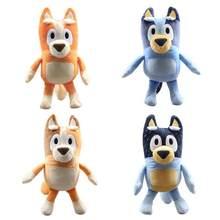 4 pçs/lote bluey família recheado de pelúcia bonecas filme bonito bluey bingo pai mãe animais macios boneca brinquedos presentes para crianças meninas meninos