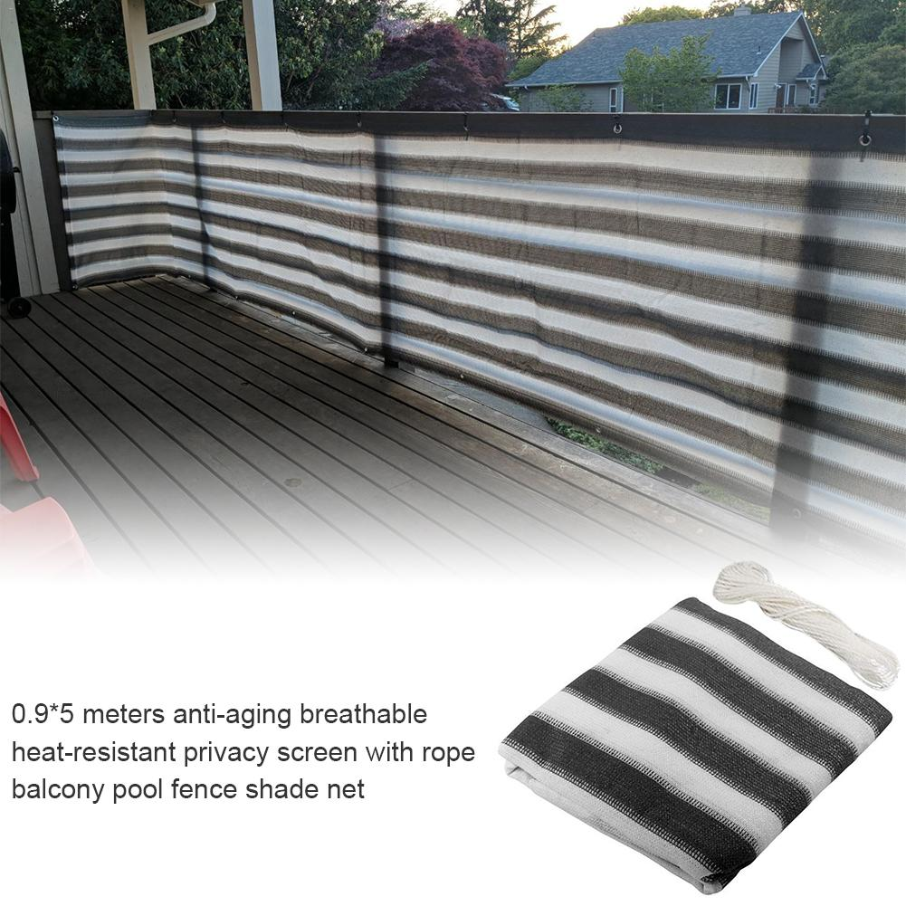 Balcony Screen Privacy Sunshade HDPE Protection Garden Pool Fence with Rope UK