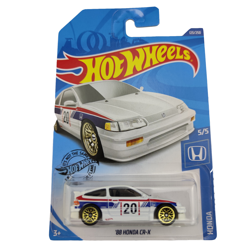 2020-123 Hot Wheels 1:64 Car 88HONDA CR-X  Metal Diecast Model Car Kids Toys Gift
