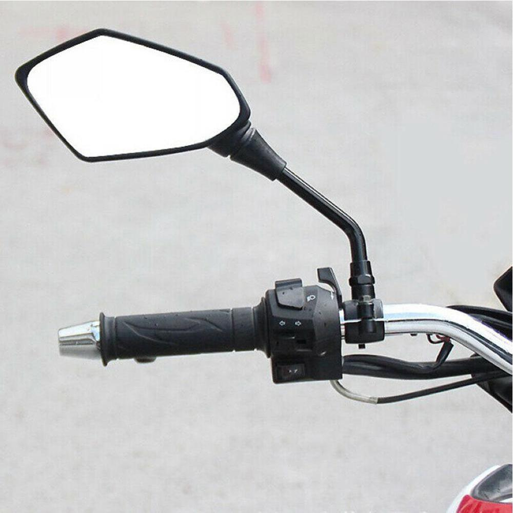 2pcs Universal 10mm Black Motorcycle Rearview Mirrors 360 Degrees Rotatable Scooter Motorcycle Side Mirror for Honda Suzuki in Side Mirrors Accessories from Automobiles Motorcycles