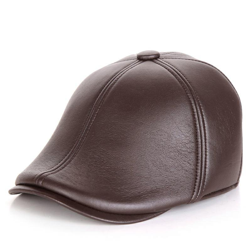 Tide brand middle-aged and elderly European and American style classic peaked cap with velvet earmuffs and windproof accessories