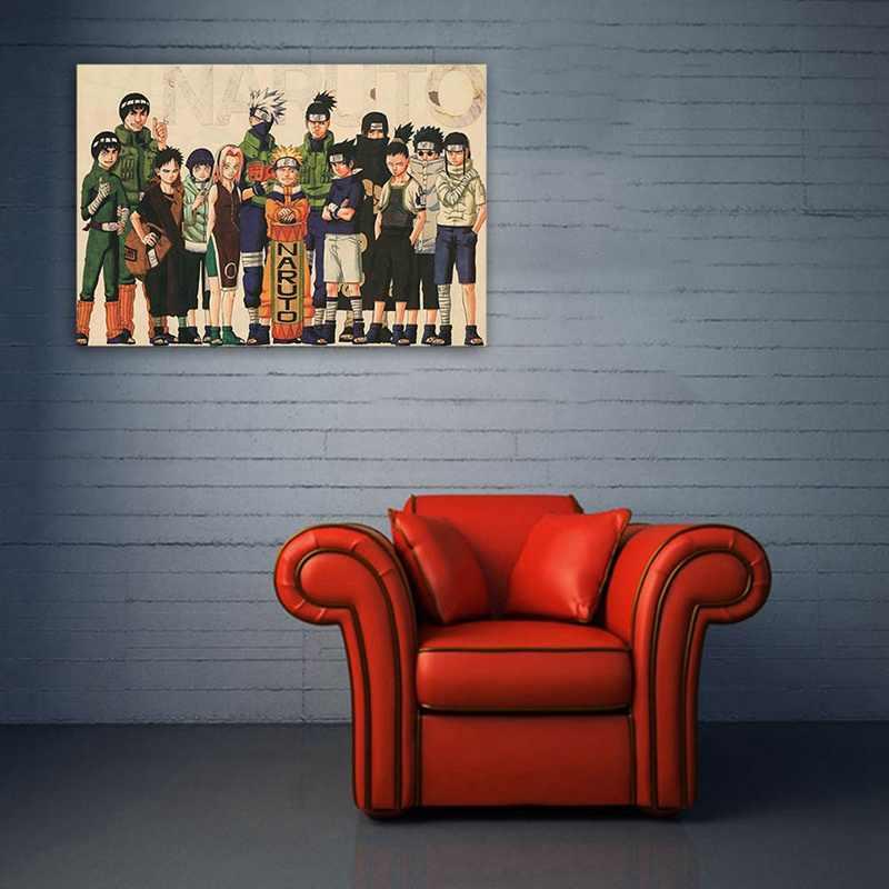 51x35cm Danh Sách Tập Phim Naruto Shippuden Anime Game Poster Nghệ Thuật Vải Lụa In Sasuke Ảnh Treo Tường Trang Trí Phòng Áp Phích