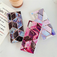 galaxy note Marble Phone Case For Samsung Galaxy A10 A20 A30 A50 A70 case Geometric Glossy For Samsung Galaxy S10 plus S10E Note 10 case (1)