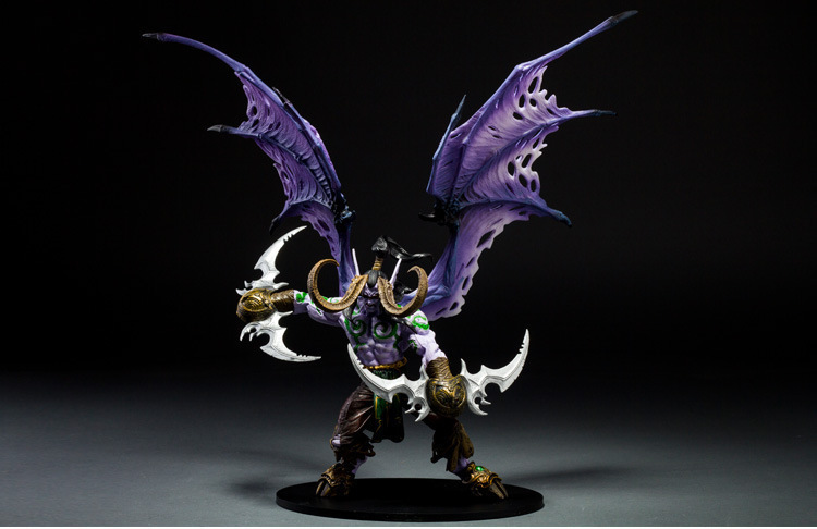 Anime Model World Of Warcraft Demon Hunter DC5 S Demon Form Illidan Boxed Garage Kit